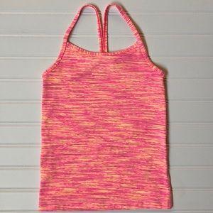 Ivivva Lululemon Tumblin Tank Pink Orange NWOT